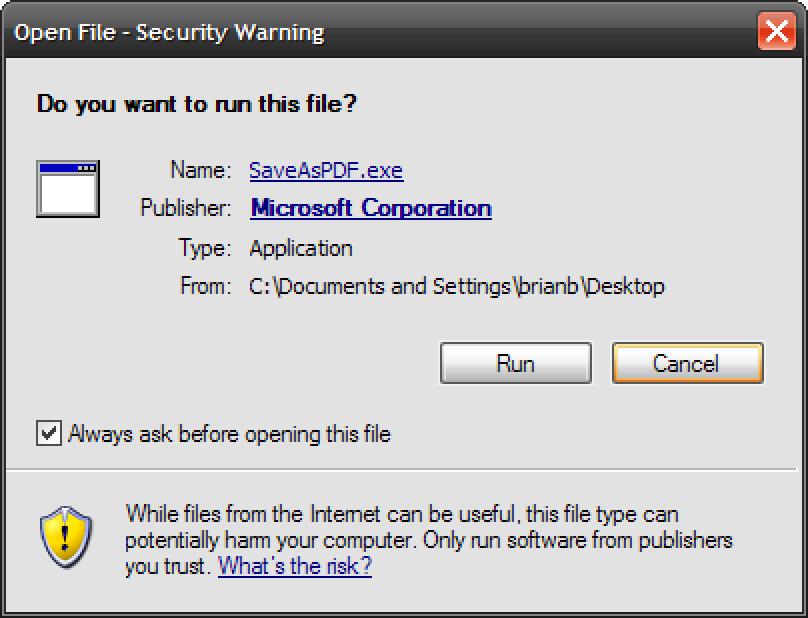 In Microsoft Office 2007-Anwendungen als PDF speichern