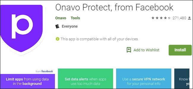 Onavo Google Play-Eintrag schützen