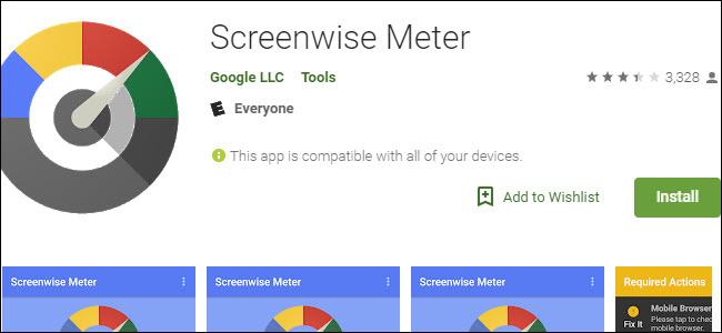 Bildschirmweise Anzeige im Google Play Store