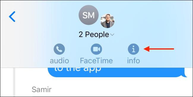 Tippen Sie auf das Info-Symbol.