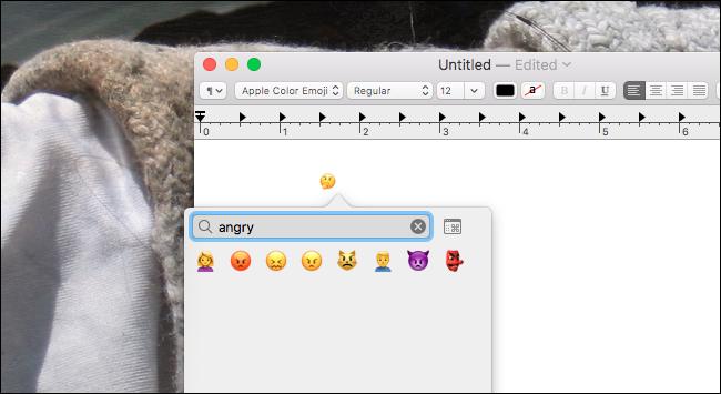 Mac-Emoji-Suche
