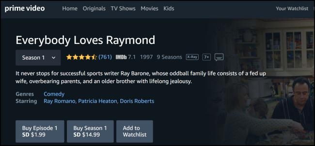 Amazon Prime Video Jeder liebt Raymond