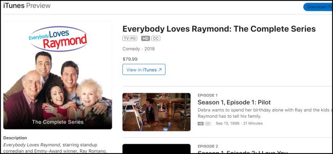 iTunes Jeder liebt Raymond