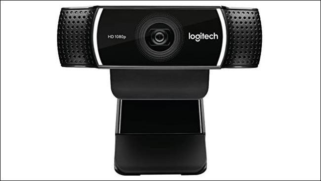 Eine Logitech-HD-Webcam zum Aufstecken.