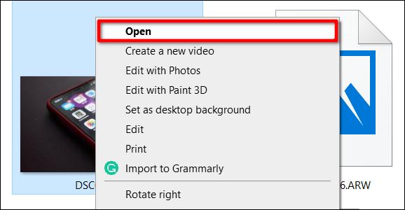 Klicken Sie mit der rechten Maustaste auf das Bild, um Fotos zu öffnen