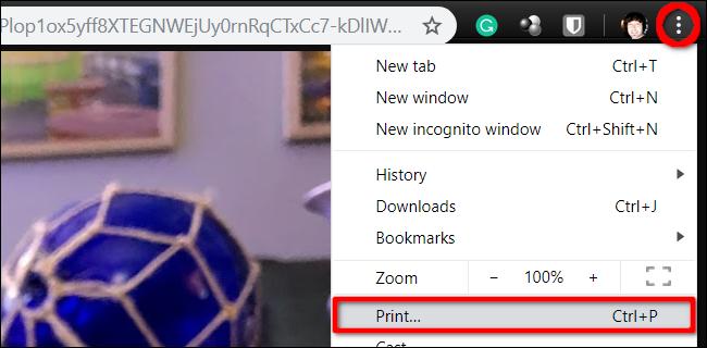 Bild aus Chrome drucken