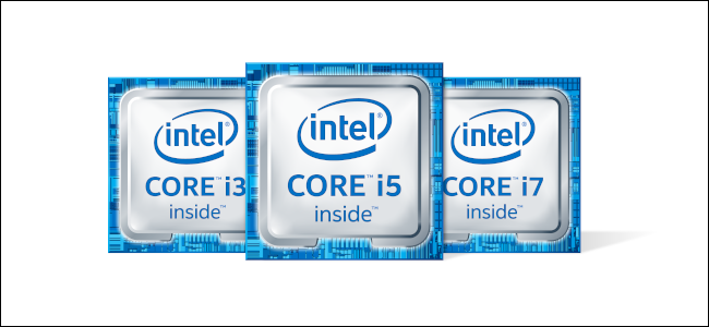 Die Intel Core i3-, i5- und i7-Logos.