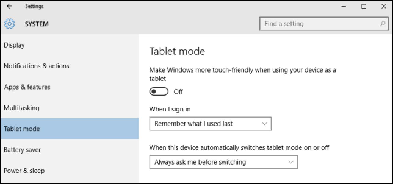 Was ist der Tablet-Modus in Windows 10 und wie wird er ein- und ausgeschaltet?