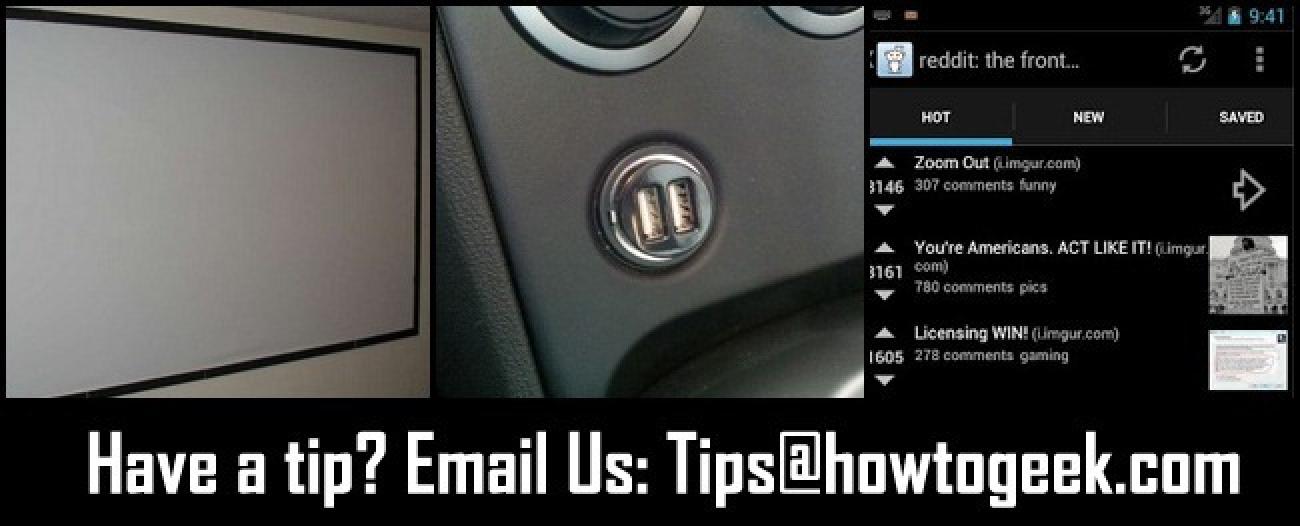DIY-Projektionsleinwände, vielseitiges USB-Laden im Auto und Reddit für Android