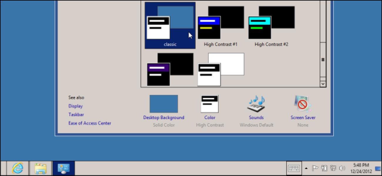 So erhalten Sie Themen im klassischen Stil unter Windows 8 oder 10 zurück