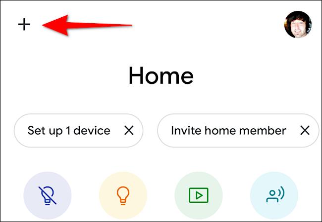 Tippen Sie auf das Pluszeichen (+), um Ihr Chromecast-Gerät hinzuzufügen.