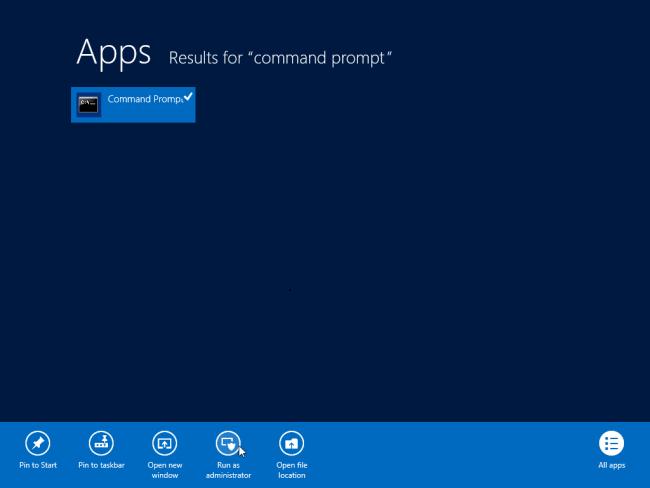 Öffnen Sie die Eingabeaufforderung als Administrator-Windows-8
