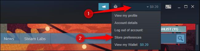 """Klicken """"Speichern Sie die Einstellungen"""" im Steam-Profilmenü"""