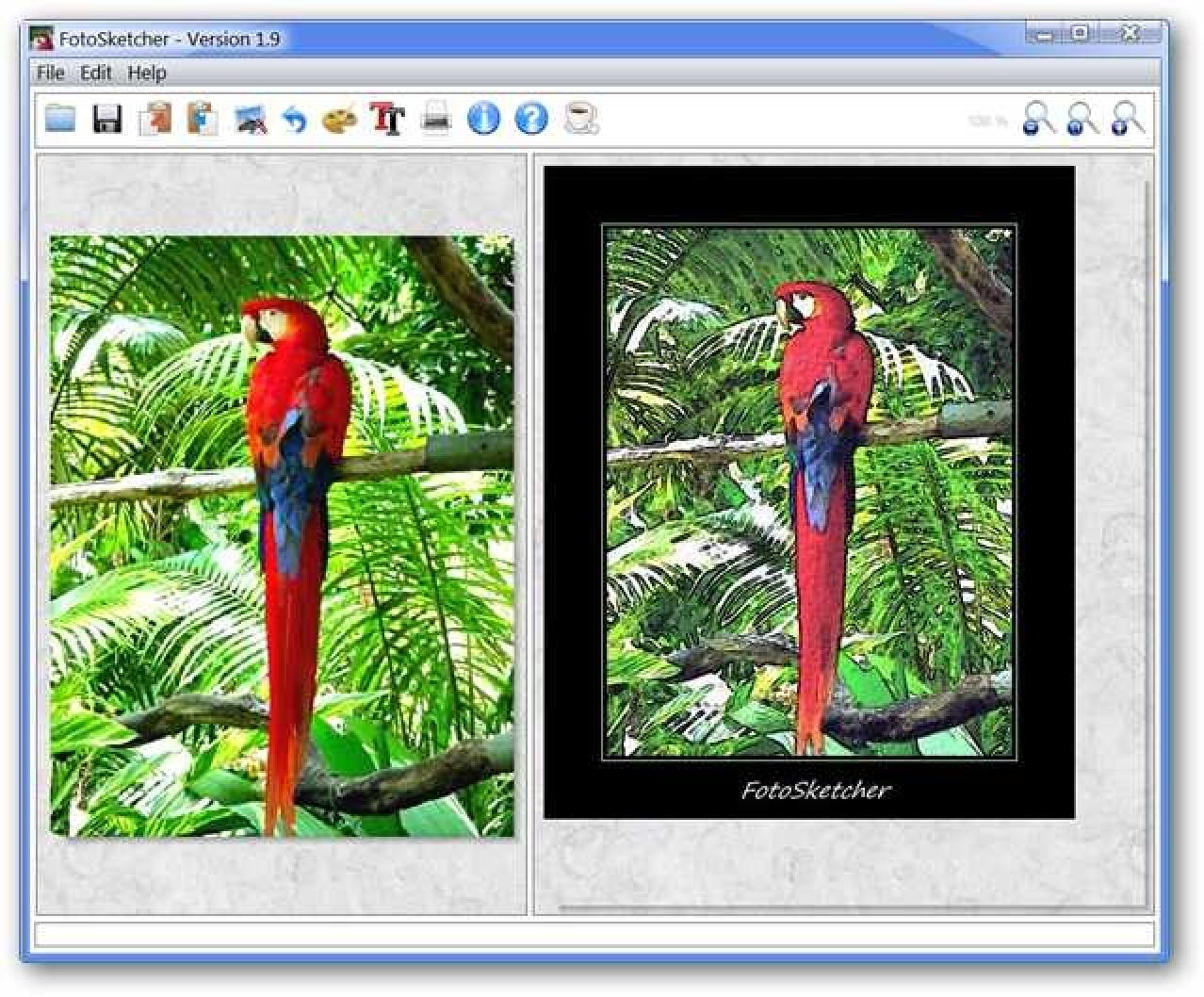 Verleihen Sie Ihrem Desktop mit FotoSketcher künstlerisches Flair