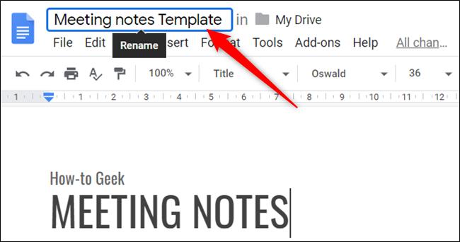 """Benennen Sie die Datei um, um das Wort einzuschließen """"Vorlage"""" um es von anderen Dateien in Ihrem Laufwerk zu unterscheiden."""