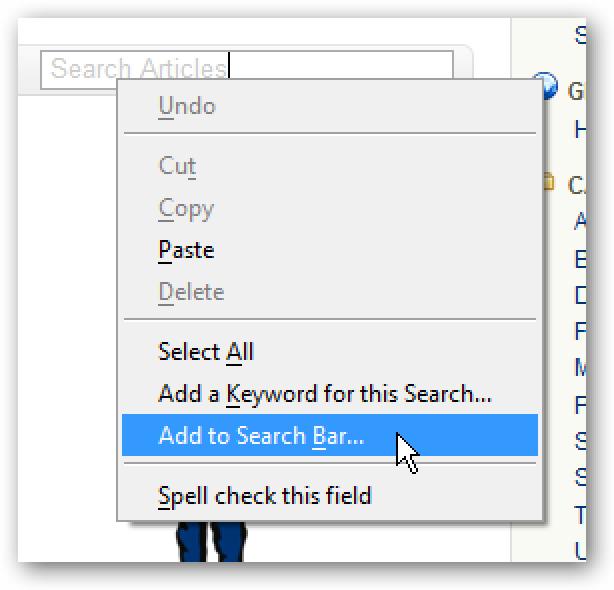 Fügen Sie der Firefox-Suchleiste Suchformulare hinzu