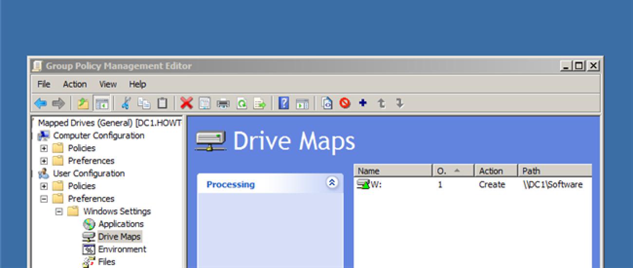 So ordnen Sie Netzwerklaufwerke auf Windows-Clients über Gruppenrichtlinien zu