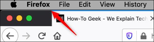 Firefox-Option im Mac-Header