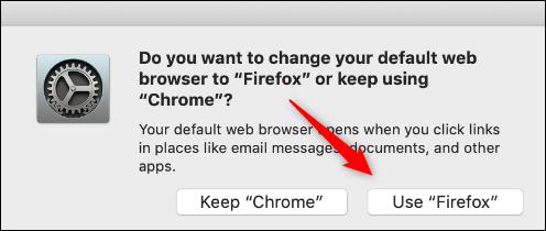 Verwenden Sie die Firefox-Bestätigungstaste