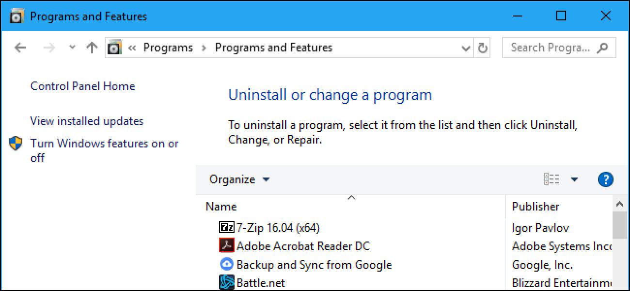 """So gelangen Sie unter Windows 10 zum Fenster """"Alte Deinstallationsprogramme"""""""