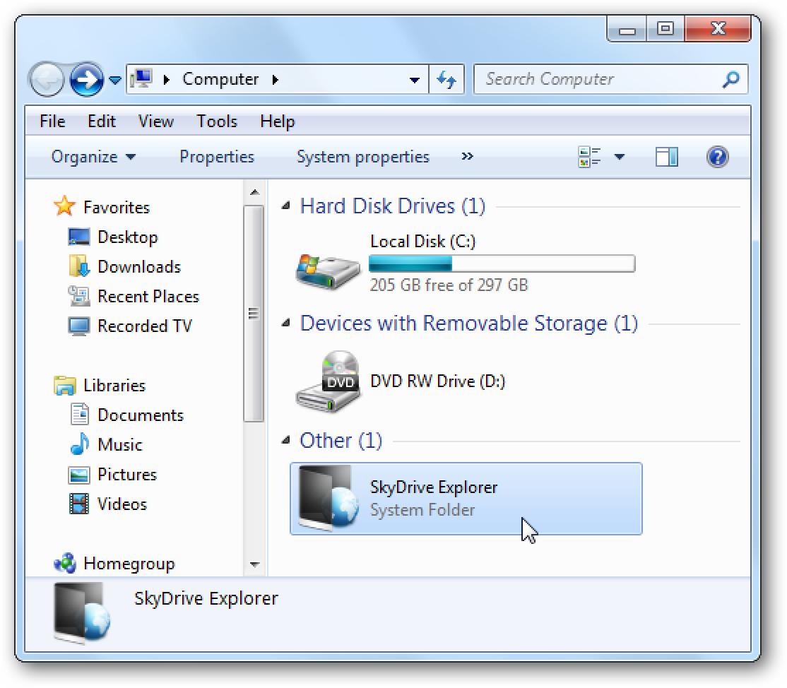 So fügen Sie Windows Live SkyDrive zum Explorer hinzu