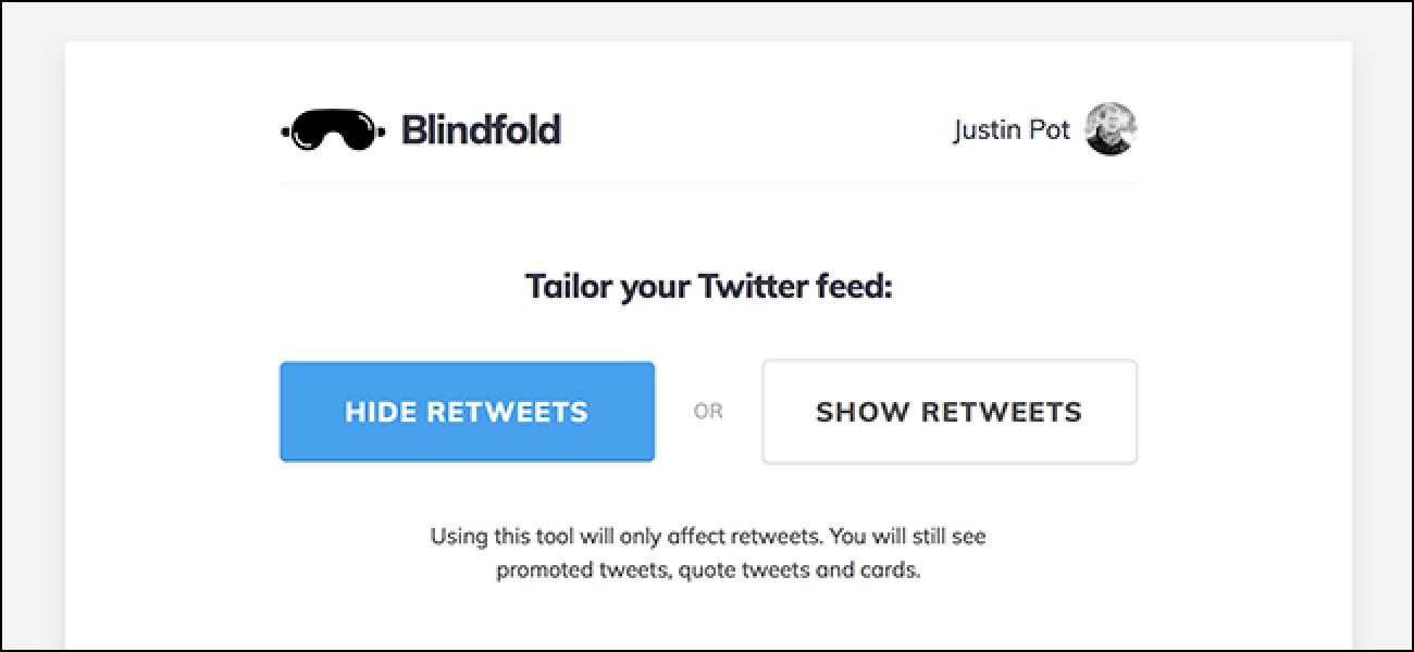 Augenbinde versteckt alle Retweets und lässt Twitter weniger wütend erscheinen