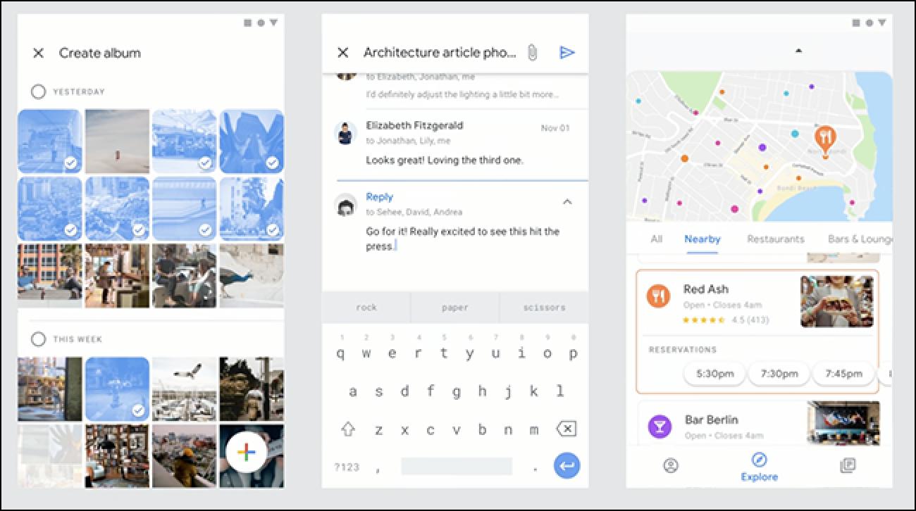 So sehen Google Mail, Kalender und andere Google Apps möglicherweise bald aus