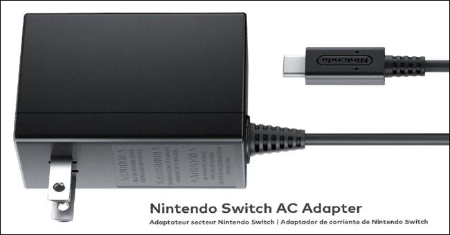 Das offizielle Nintendo Switch-Netzteil.