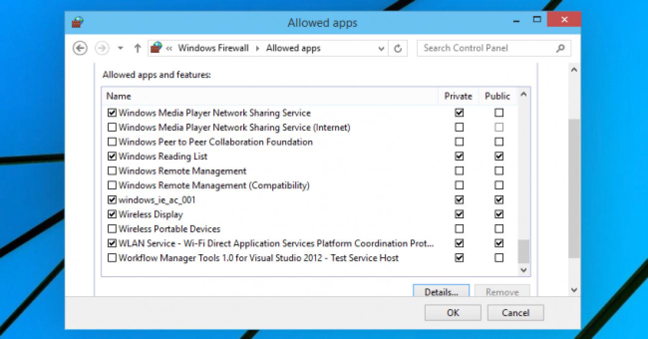 Zurücksetzen der Windows-Firewallregeln auf Standard
