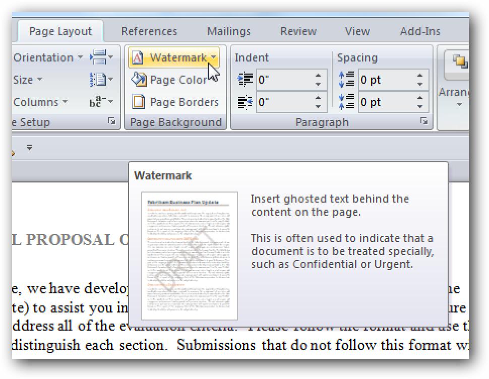 So fügen Sie Word 2007-Dokumenten ein Wasserzeichen hinzu