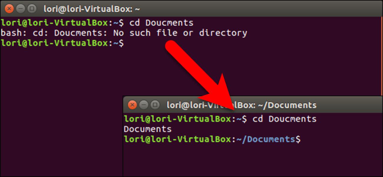 """So korrigieren Sie Rechtschreibung und Tippfehler automatisch, wenn Sie """"cd"""" unter Linux verwenden"""