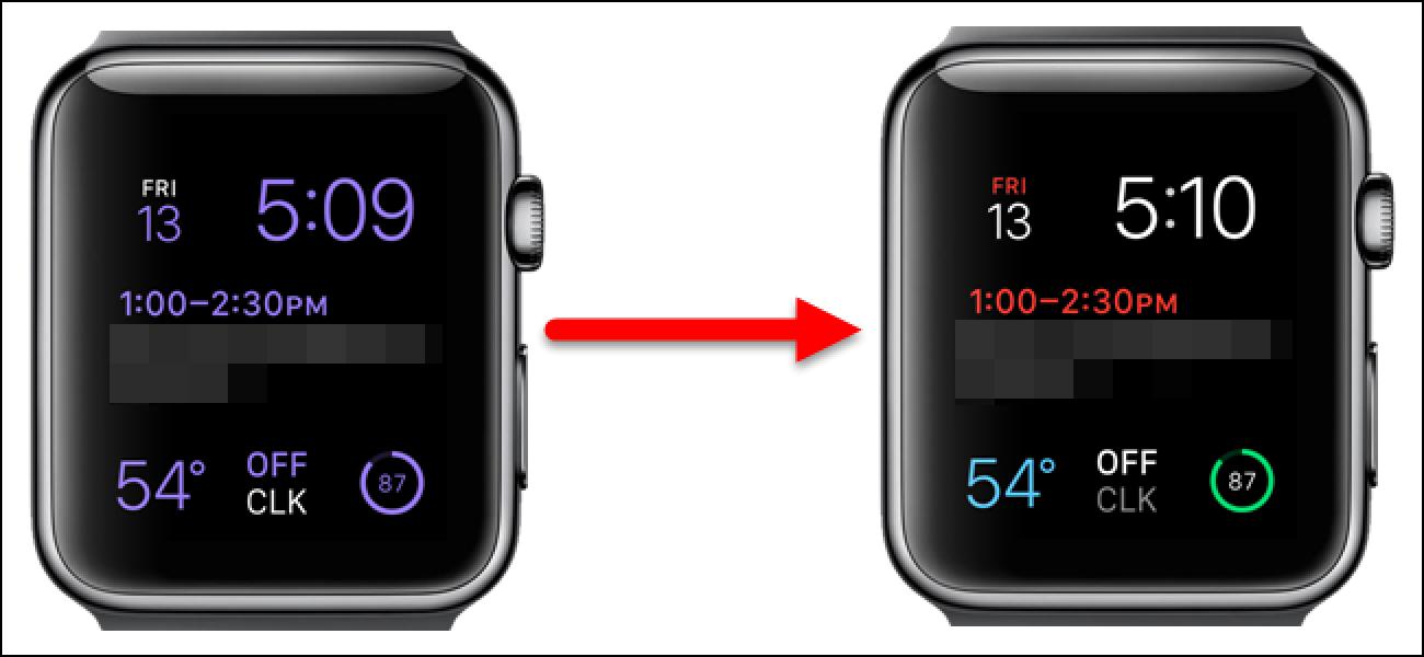 So machen Sie das modulare Apple Watch-Gesicht mehrfarbig