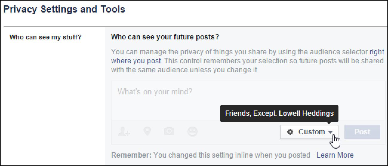So zeigen oder verbergen Sie Facebook-Beiträge für bestimmte Personen