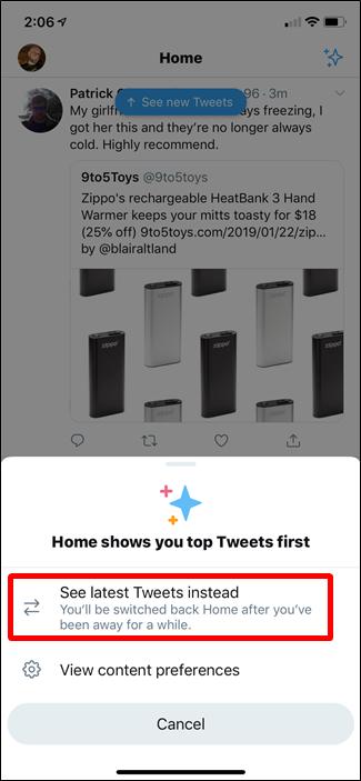 Neueste Tweets anzeigen