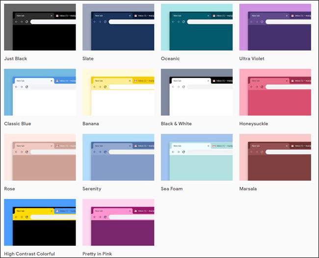 Neue Chrome-Designs