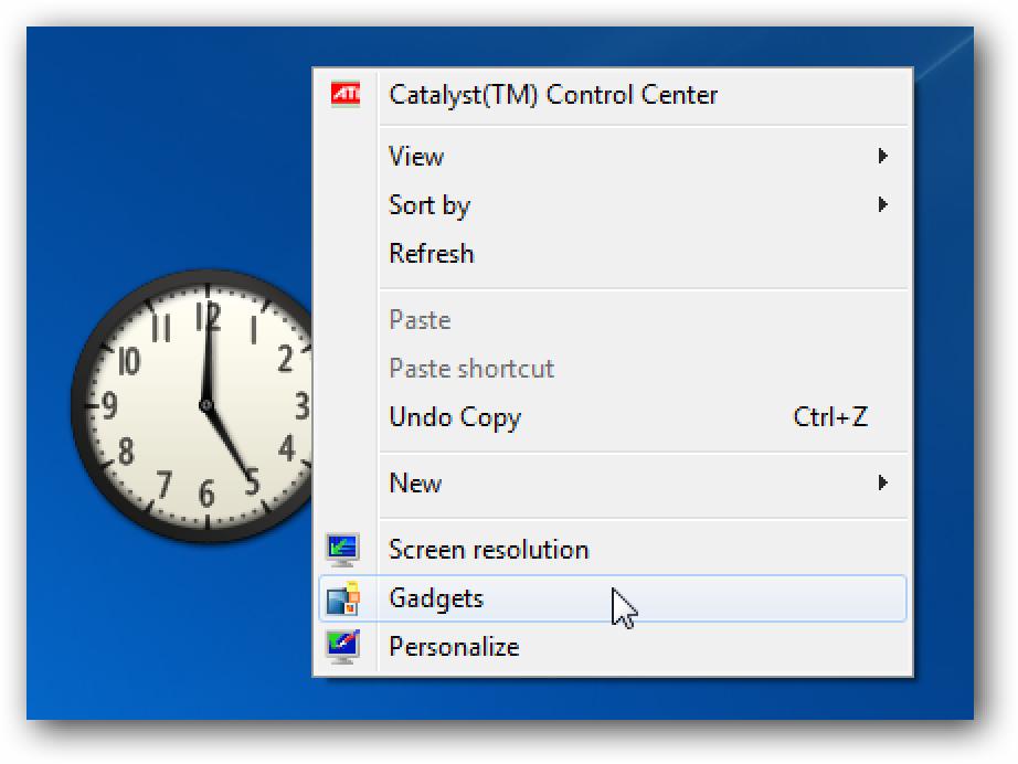 Deaktivieren Sie Sidebar / Desktop-Gadgets unter Windows 7