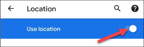 Android-Einstellungen aktivieren Standort