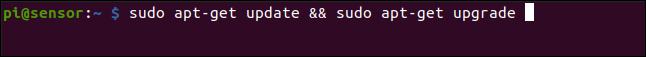 sudo apt-get update && sudo apt-get upgrade in einem Terminalfenster.