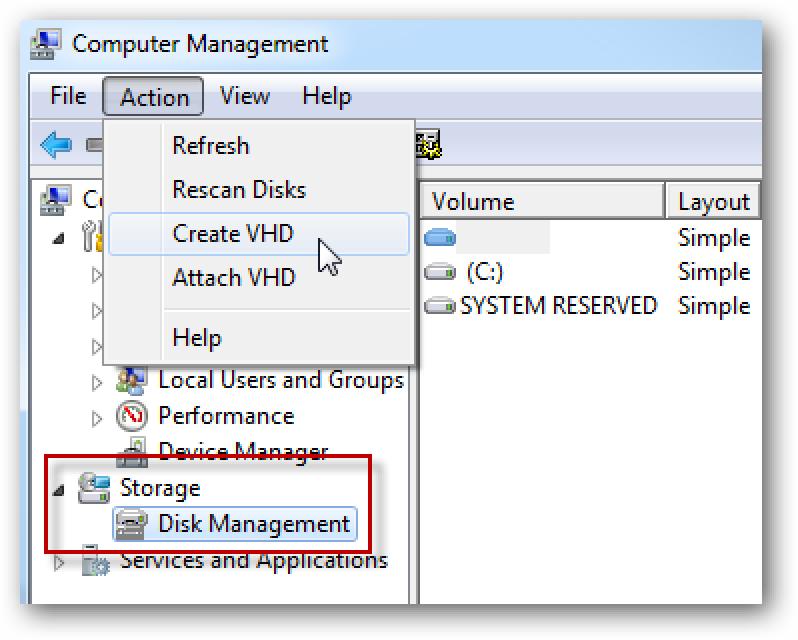 So sichern Sie Ihre Daten auf einer virtuellen Festplatte in Windows 7