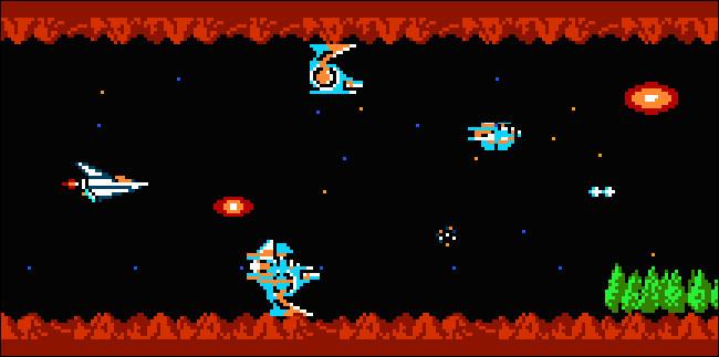 Grafik von Gradius für das NES