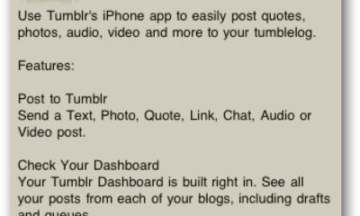 Aktualisieren Sie Ihren Tumblr-Blog von Ihrem iPhone oder iPod Touch