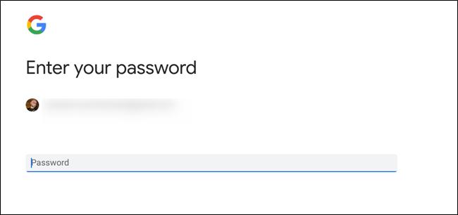Passwort-Menü