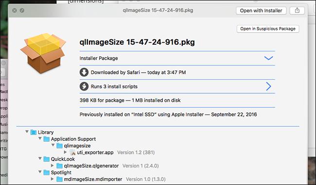 Quicklook-Paket-Dateien