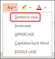 Wählen Sie die Option Satzfall