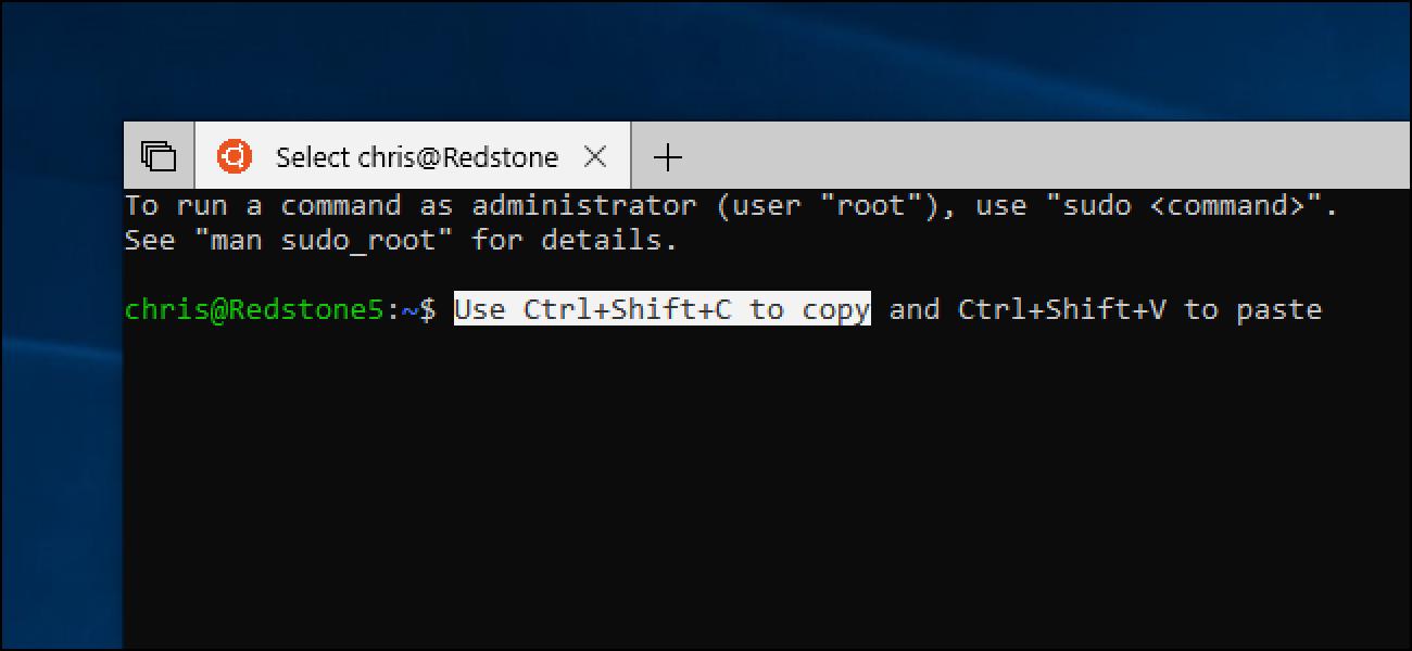 So aktivieren Sie das Kopieren und Einfügen von Tastaturkürzeln in der Bash-Shell von Windows 10