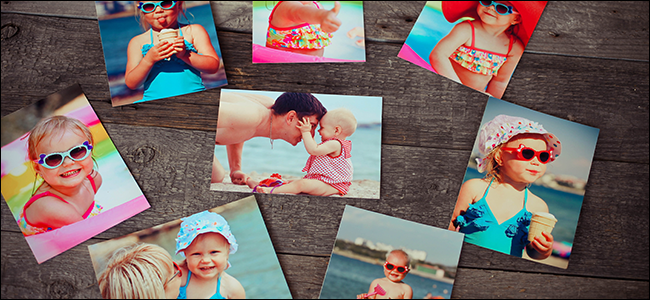 nostalgische Fotos eines Kleinkindes am Strand