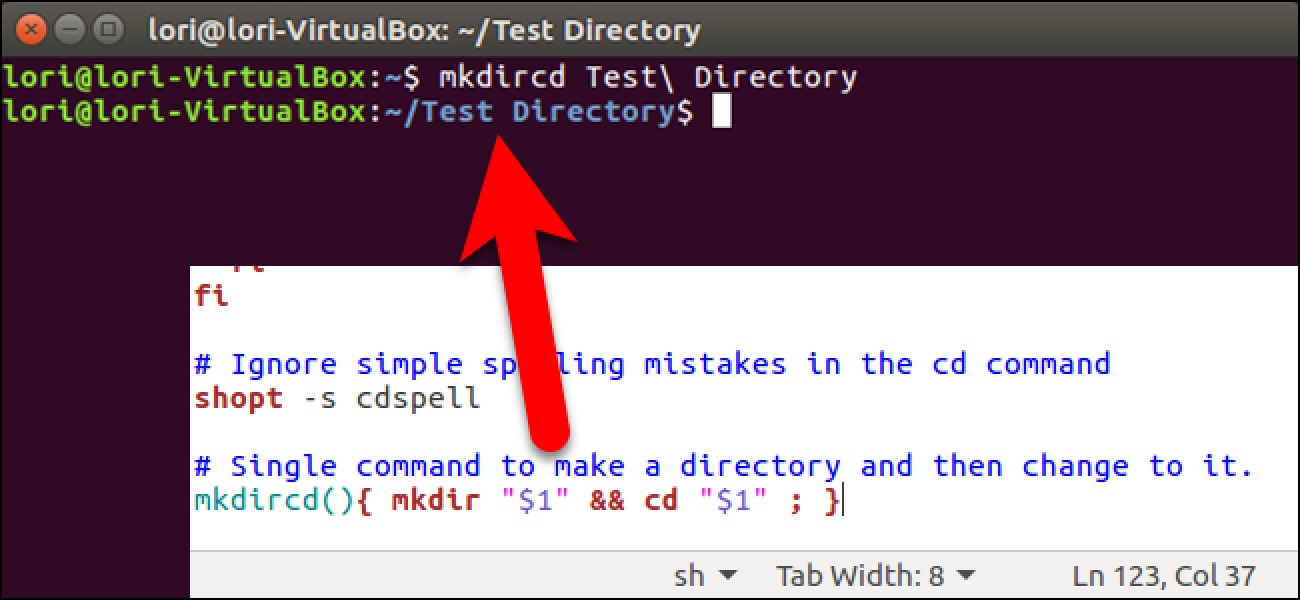 So erstellen Sie ein neues Verzeichnis und ändern es mit einem einzigen Befehl unter Linux