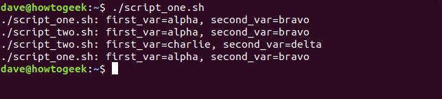 """""""./script_one.sh"""" in einem Terminalfenster."""