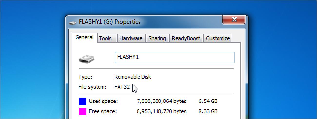 So konvertieren Sie eine Festplatte oder ein Flash-Laufwerk von FAT32 in das NTFS-Format
