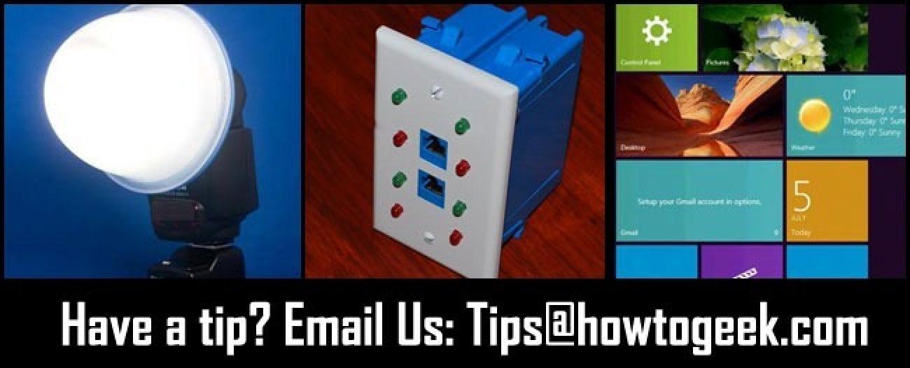 DIY-Flash-Diffusoren, hausgemachte Ethernet-Tester und Metro-Benutzeroberfläche in Windows 8